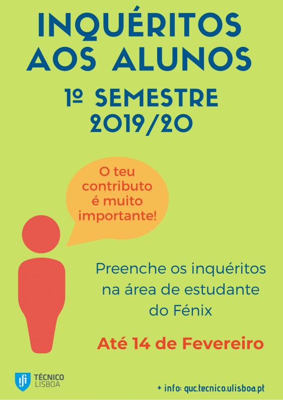 Caraz apelo participação inquéritos QUC 1º semestre 2019/20