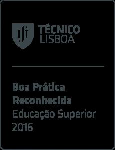selo de boa prática na área da Educação Superior em 2016